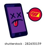 low battery smartphone needs... | Shutterstock .eps vector #282650159