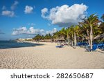 a typical caribbean resort at... | Shutterstock . vector #282650687