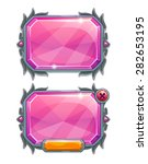 pink crystal panels  vector...