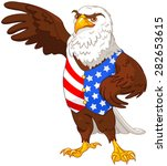 illustration of proud american... | Shutterstock .eps vector #282653615