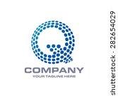 letter q logo   blue bold... | Shutterstock .eps vector #282654029