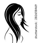 illustration beauty face girl... | Shutterstock . vector #282658469
