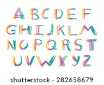set of twenty six letters of... | Shutterstock .eps vector #282658679
