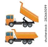 orange truck dump for... | Shutterstock .eps vector #282665099
