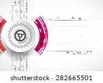 abstract technological... | Shutterstock .eps vector #282665501
