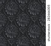 vector dark damask seamless... | Shutterstock .eps vector #282666305