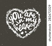 romantic vector heart with text ... | Shutterstock .eps vector #282672329