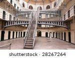 Stock photo stairs in the kilmainham gaol with prison cells in dublin ireland ie eu 28267264