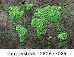 global spread concept and... | Shutterstock . vector #282677039
