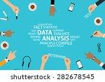 vector data analysis concept... | Shutterstock .eps vector #282678545