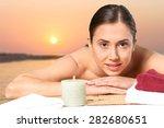 summer  care  face. | Shutterstock . vector #282680651