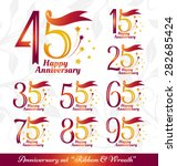 anniversary emblems set.... | Shutterstock .eps vector #282685424