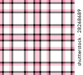 Pink  White And Black Plaid...