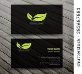 modern business cards templates ... | Shutterstock .eps vector #282687881