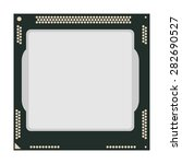 computer chip cpu icon vector... | Shutterstock .eps vector #282690527