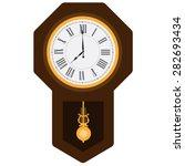 Brown Wooden Pendulum Clock...