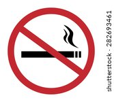 Round No Smoking Sign  Quit...