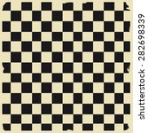retro black and white checkered ... | Shutterstock .eps vector #282698339
