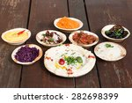 hummus  different appetizer ... | Shutterstock . vector #282698399