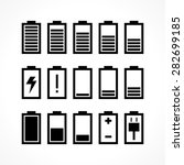 battery icon set isolated on... | Shutterstock .eps vector #282699185