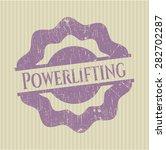 powerlifting rubber seal | Shutterstock .eps vector #282702287