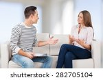 counselor  talking  therapist. | Shutterstock . vector #282705104