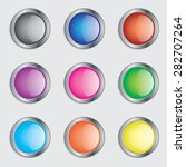 colorful round buttons icon set ... | Shutterstock .eps vector #282707264