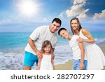 beach  summer  group. | Shutterstock . vector #282707297