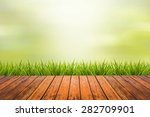 fresh spring grass with green... | Shutterstock . vector #282709901