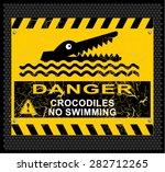 danger  crocodiles  no swimming | Shutterstock .eps vector #282712265
