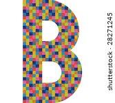 letter b alphabet symbol design