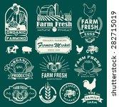 Farm Logotypes Set. Retro Farm...