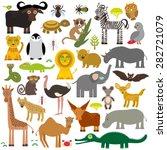 animal africa parrot hyena... | Shutterstock .eps vector #282721079