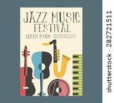 jazz music festival poster... | Shutterstock .eps vector #282721511