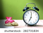 still life with vintage clock... | Shutterstock . vector #282731834