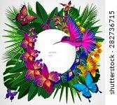 floral design background.... | Shutterstock .eps vector #282736715