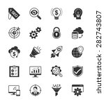 seo   internet icon set 1 on... | Shutterstock .eps vector #282743807
