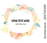 watercolor frame flower vector | Shutterstock .eps vector #282745289