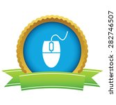 round icon with ribbon  with...