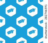 blue image of burning envelope... | Shutterstock .eps vector #282746591