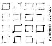 highlight frame markers  grunge ... | Shutterstock .eps vector #282752939