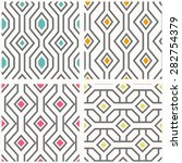 set of geometric seamless... | Shutterstock .eps vector #282754379