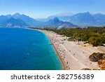 beach at antalya turkey  ... | Shutterstock . vector #282756389