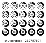 loading or percentage icons set ... | Shutterstock .eps vector #282757574