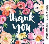 watercolor greeting card... | Shutterstock .eps vector #282759809