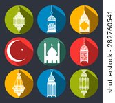 set of flats icons  ramadans... | Shutterstock .eps vector #282760541