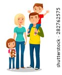 cartoon illustration of a young ... | Shutterstock .eps vector #282762575