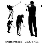 set of golfer silhouettes | Shutterstock . vector #28276711