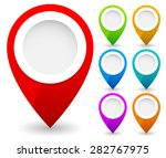 map marker  map pin vector. map ... | Shutterstock .eps vector #282767975