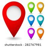 map marker  map pin vector. map ... | Shutterstock .eps vector #282767981